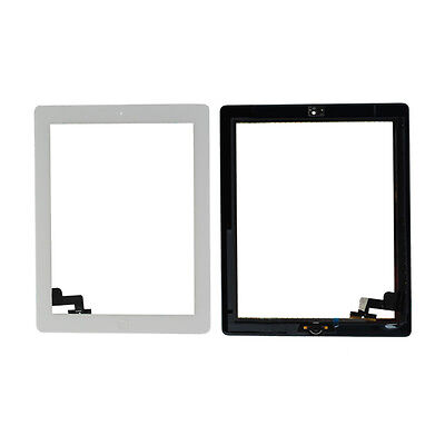 White Touch Screen Digitizer Home Button Flex Cable For Apple iPad 2 UK Ship