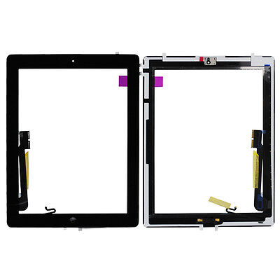 Black Touch Screen Digitizer Home Button Flex Cable Replacement For Apple iPad 4