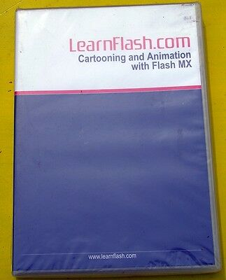 CARTOONING & ANIMATION with Flash MX CD..LEARNFLASH.CO ..sealed