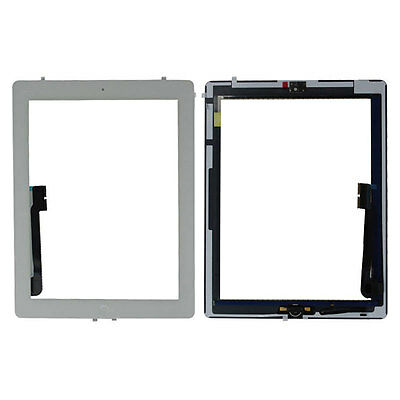 White Touch Screen Digitizer Home Button Flex Cable Ribbon For Apple iPad 4 UK