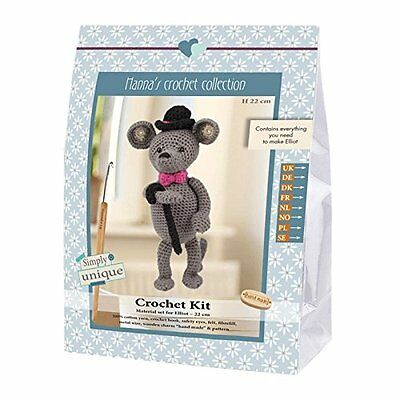 Go Handmade Gentleman Eliot The Mouse 22cm Crochet Needlework Complete Kit!