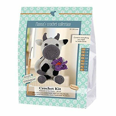 Go Handmade Dorte The Cow 20cm Crochet Needlework Complete Kit!