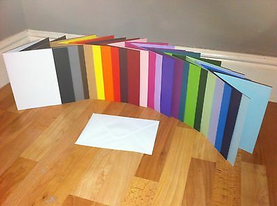Card Blanks Pre Scored A5 U Choose Colour And Quantity With White Envelopes
