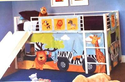 Fire Truck~Zoo~Flower~Curtain Kit Set~For Bunk Bed~Kid Play Fort Tent~Toy Storag