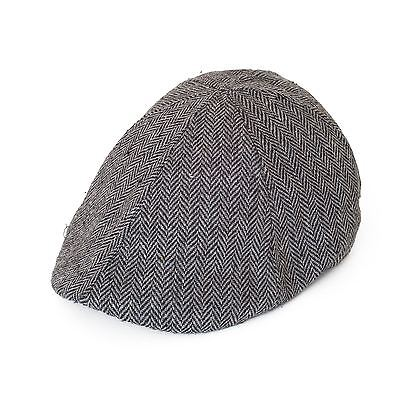 Herringbone Pattern 6-Panel Duckbill Kids Gatsby Cap