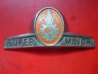 insigne badge monogramme tracteur FORDSON SUPER MAJOR