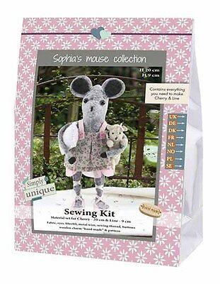 Go Handmade Cherry 20cm & Line 9cm The Mice Sewing Felt Needlework Complete Kit!