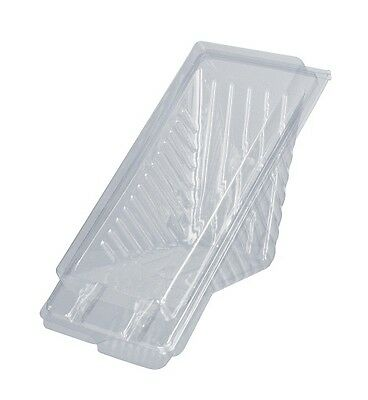 Small Plastic Sandwich Container Triangle Wedge - 100/Pk  167 x 72 x 78 mm CAPRI