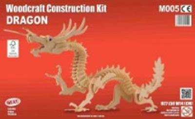 Dragon - Woodcraft Construction Kit - FSC Wooden Model Kit-Quay- Ages 7+ NEW