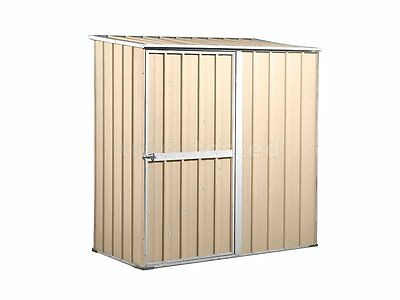 Garden Shed 1.75m x 0.9m x 1.8m Cream Small Storage Sheds Colourbond NEW