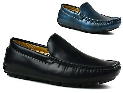 Mens  Comfy Flat Casual Loafers Slip On Formal Smart Office Wedding Shoes 6 - 11