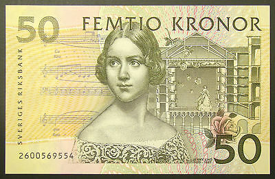 Sweden 50 Kroner 2002 Issue banknote P-62a Unc -067