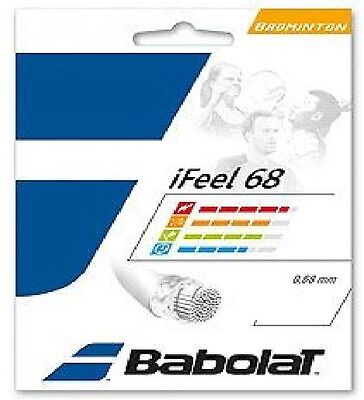 Babolat iFeel 68 Badminton String Set (Available in White, Red, Yellow)