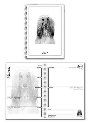 Afghan Hound Small 2017 Dog Show Diary with Championship Show Dates