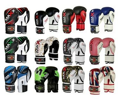 Maxx 4oz 6oz 8oz Kids Boxing Gloves Junior Mitts PunchBag Children Gel Pad Glove
