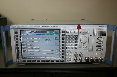 Rohde Schwarz CMU200 Universal Tester GSM, WCDMA, Audio, Calibrated & Warranty