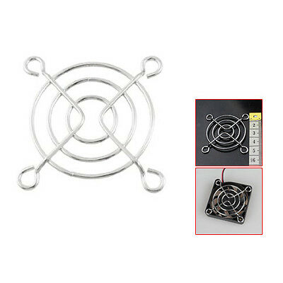 5x(CY 2 Pcs 14g Silver Tone Metal Grill Protector 50mm CPU Fan Finger Guards)
