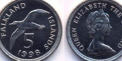 Falkland Island 5 (Five) Pence Coin Channel Islands