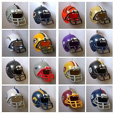 "NFL Replica American Football 3"" Hanging Christmas Decoration Helmet"