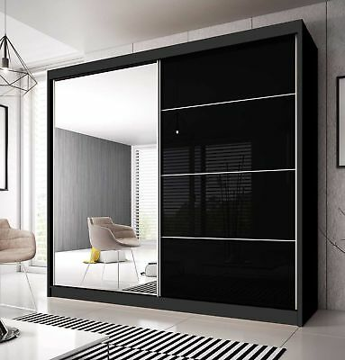 BRAND NEW MODERN BEDROOM SLIDING DOOR WARDROBE 7 ft 8 (233cm) - CHOICE OF FRONTS