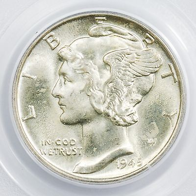 1945-D Mercury Dime PCGS MS-66 Old Green Holder Small Silver Coin [1759.01]