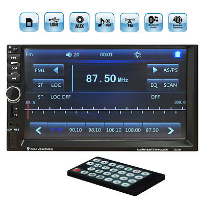 HD 7'' Touch Screen 2din Bluetooth MP5 Video Player Remote Control  Support FM