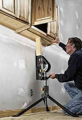 """Adjustable Tripod 33"""" Sawhorse Work Support Stand Clamping Sheets Feeding Holder"""