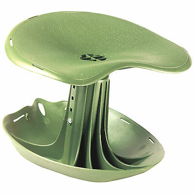 Green Plastic Gardening Seat Rocking Planting Stool Chair Plant Garden Gear Pad