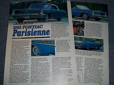 1963 Canadian Pontiac Parisienne Convertible History Info Article