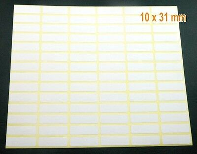 Labels 10x31 mm 1cmx31cm white Blank Self Adhesive Sticker Rectangle small H 243
