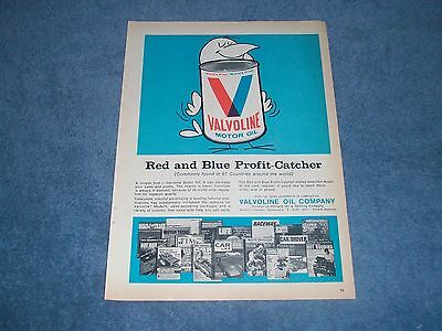 "1968 Valvoline Motor Oil Vintage Ad ""Red and Blue Profit-Catcher"""