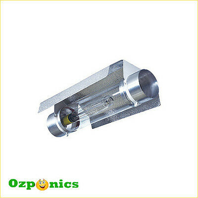 4 x AIR COOLED HOOD COOLTUBE 6 INCH HYDROPONICS REFLECTOR ABOVE ALUMINUM WINGS