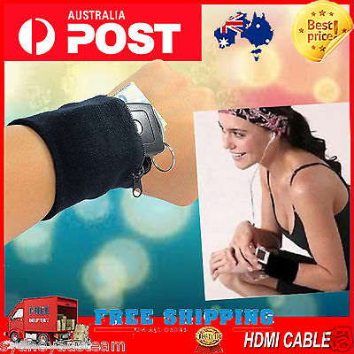Outdoor Wrist Band Safe Wallet Storage Zipper Ankle Wrap Delicate Sport Strap