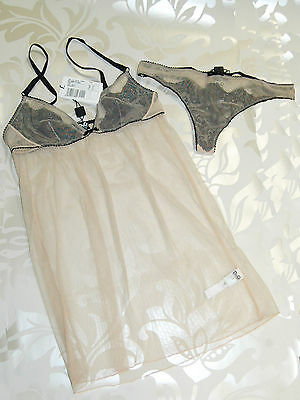Dolce & Gabbana D&G Nude Lace Babydoll & BriefsEach sold separate Valentines Box