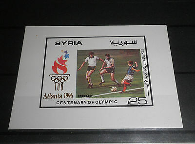 "Syria 1996 ""olympics Atlanta"" Mnh** Block Imperf (Cat.9)"