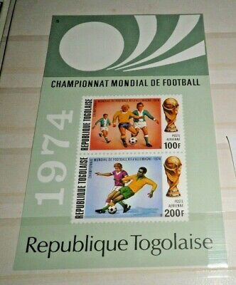 "Togo 1974 ""world Cup"" Mnh** Block Imperf (Cat.8)"