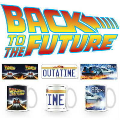 Official Back to the Future Mug Delorean 88mph Outatime 80s Movie Boxed NEW