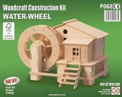 Water Wheel - Woodcraft Construction Kit - FSC Wooden Model Kit-Quay- Ages 7+NEW