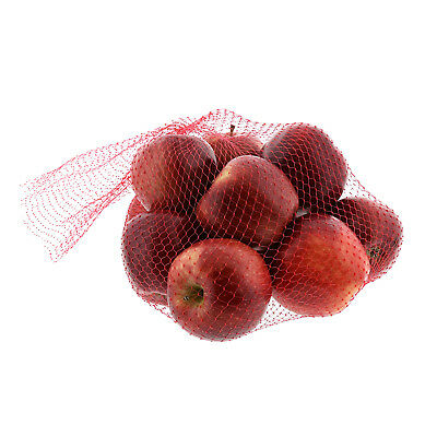 """Royal 24"""" Red Plastic Mesh Produce Bags-Seafood, Fruit Vegetable, Pack of 100"""