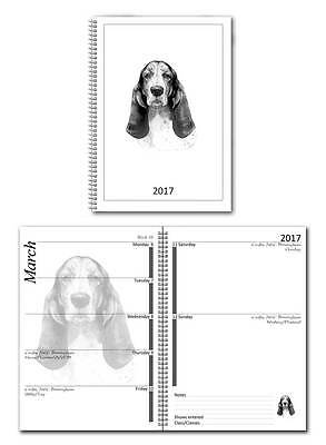 Basset Hound Small 2017 Dog Show Diary with Championship Show Dates