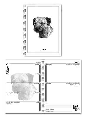 Border Terrier Small 2017 Dog Show Diary with Championship Show Dates