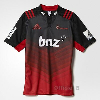 Crusaders Rugby Jersey Shirt 2017 Home Super 18 New Zealand Official Adidas Mens