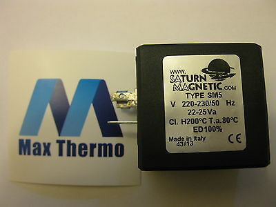 Saturn Magnetic Type Sm5 230V Solenoid Valve Coil - Coffee Espresso D=14.5Mm
