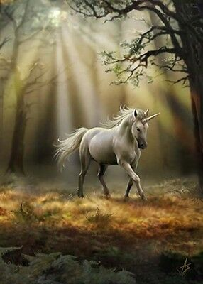 New * Glimpse Of A  Unicorn  * Anne Stokes Fantasy Art  Birthday Greeting Card