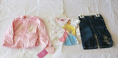 NWT Disney Princess 3pcs Capri Set for Toddlers- Perfect for Rainy Days Pink