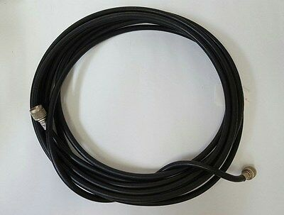 "Times Microwave Systems 3/8"" LMR400 Coaxial Cable W/ 2 N Type Male Connectors"