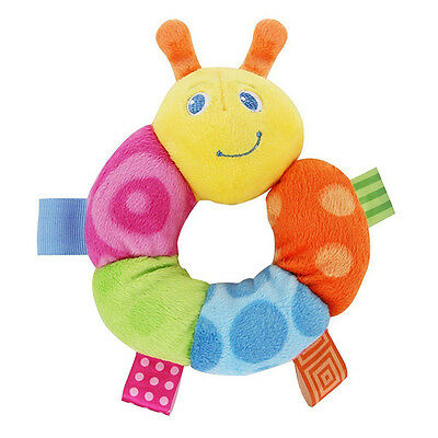 New Taggies Colours Caterpillar Round Rattle Toy With Colorful Looped Ribbons 0+