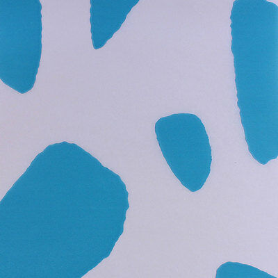 """Printed Tissue Paper - """"Turquoise Cow"""" Pattern - 240 Sheets"""