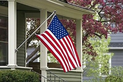All Weather US American Flag 3x5 Ft Strong Nylon Embroidered Stars Sewn Stripes