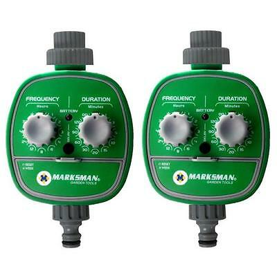 2 X Automatic Electronic Watering Irrigation System 2 Pcs Water Timer Garden